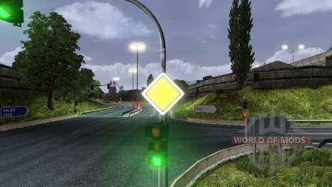 Russe panneaux de signalisation routière pour Euro Truck Simulator 2