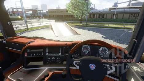 De l'intérieur pour Scania-Bois pour Euro Truck Simulator 2