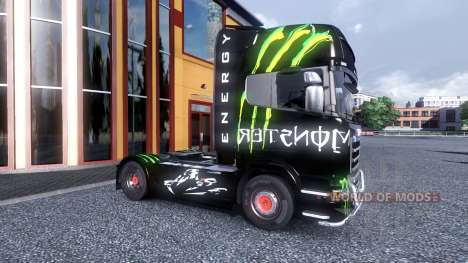 Couleur-Monster Energy - camion Scania pour Euro Truck Simulator 2