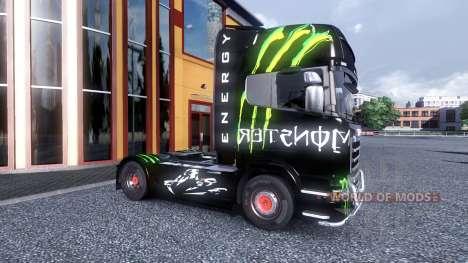 Farbe-Monster Energy - LKW Scania für Euro Truck Simulator 2