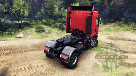 Renault Premium Red pour Spin Tires