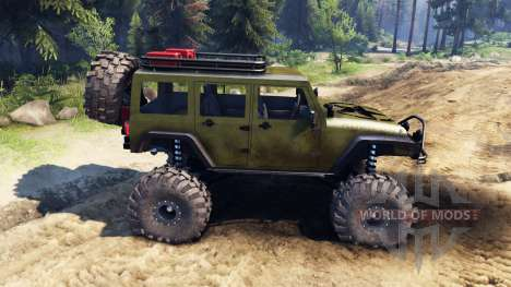 Jeep Wrangler Unlimited SID Green pour Spin Tires