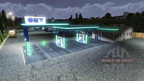 STATION-SERVICE OMV pour Euro Truck Simulator 2