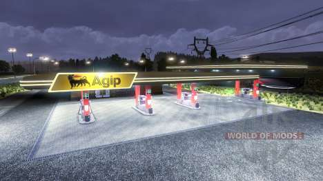 Station essence, Agip pour Euro Truck Simulator 2