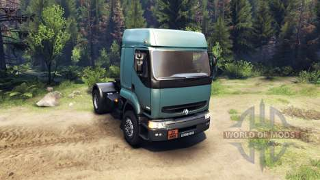 Renault Premium Air Force Blue pour Spin Tires