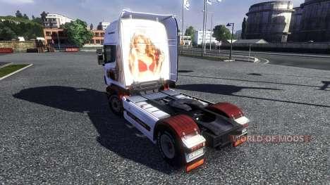 Couleur-Les sur un tracteur Scania pour Euro Truck Simulator 2