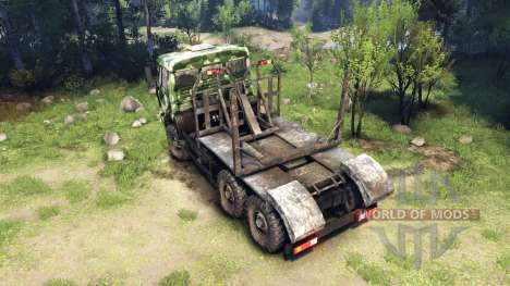 KamAZ-6520 camo v1 pour Spin Tires