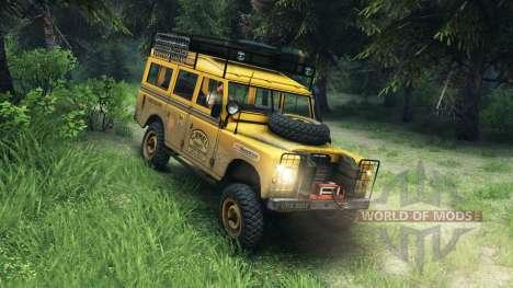 Land Rover Defender v2.2 Camel Trophy Siberia für Spin Tires