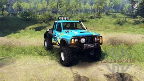 Nissan Patrol GQ für Spin Tires
