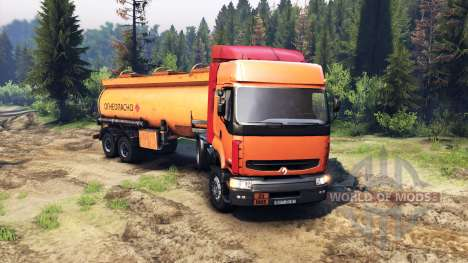 Renault Premium Orange pour Spin Tires