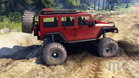 Jeep Wrangler Unlimited SID Red für Spin Tires
