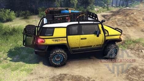 Toyota FJ Cruiser jaune pour Spin Tires