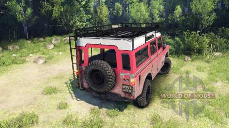 Land Rover Defender Series III v2.2 Red für Spin Tires