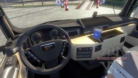 Neue Innenausstattung für den MANN tagaca für Euro Truck Simulator 2