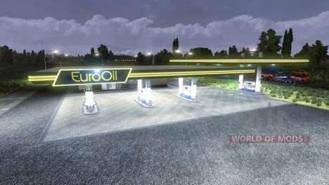 La station d'essence EuroOil pour Euro Truck Simulator 2