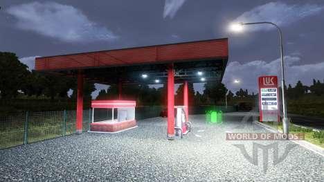 LA STATION D'ESSENCE LUKOIL pour Euro Truck Simulator 2