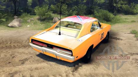 Dodge Charger General Lee für Spin Tires