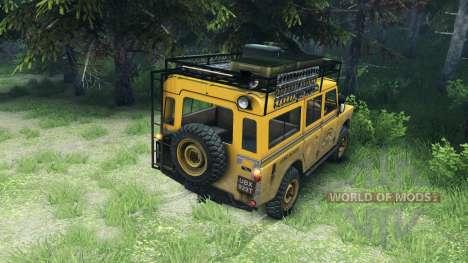 Land Rover Defender v2.2 Camel Trophy Siberia pour Spin Tires