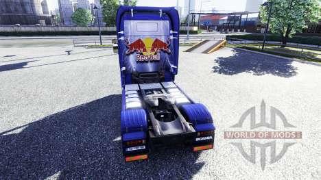 Farbe-Red Bull - LKW Scania für Euro Truck Simulator 2