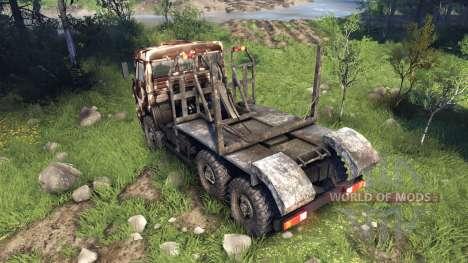 KamAZ-6520 camo v2 pour Spin Tires