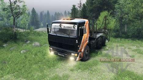 Schwarz und orange Farbe auf KAMAZ-6520 für Spin Tires