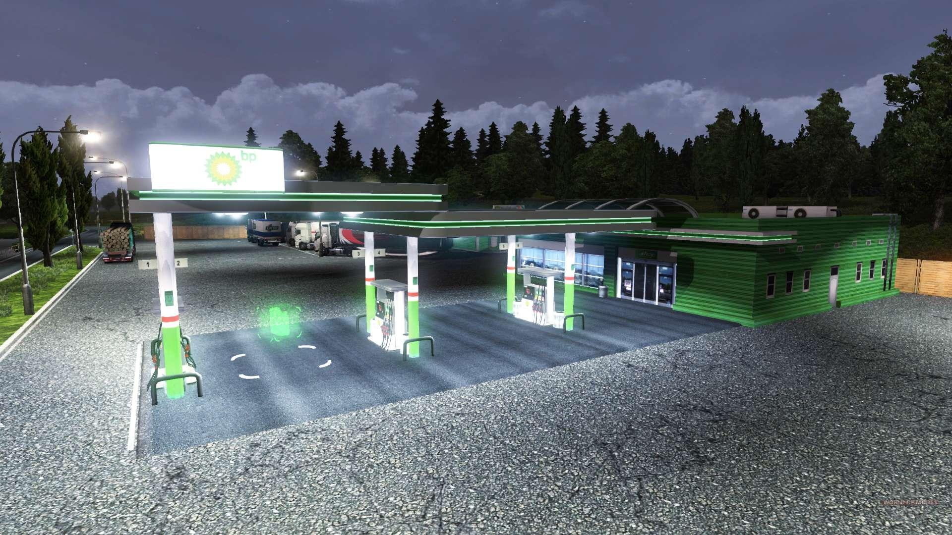 station bp pour euro truck simulator 2. Black Bedroom Furniture Sets. Home Design Ideas