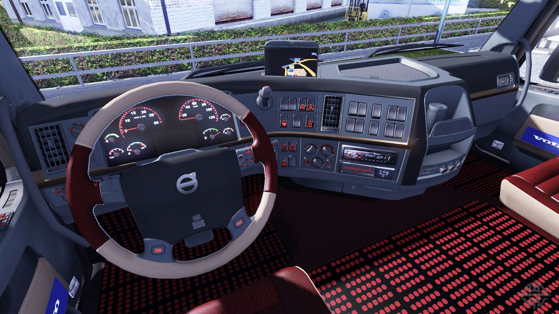 neue innenausstattung f r volvo tagaca f r euro truck. Black Bedroom Furniture Sets. Home Design Ideas