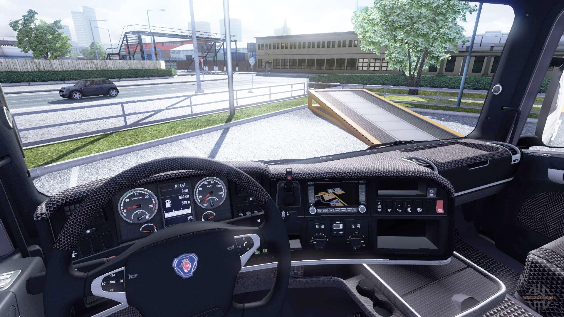 Innenraum f r scania leder f r euro truck simulator 2 for Interieur camion scania