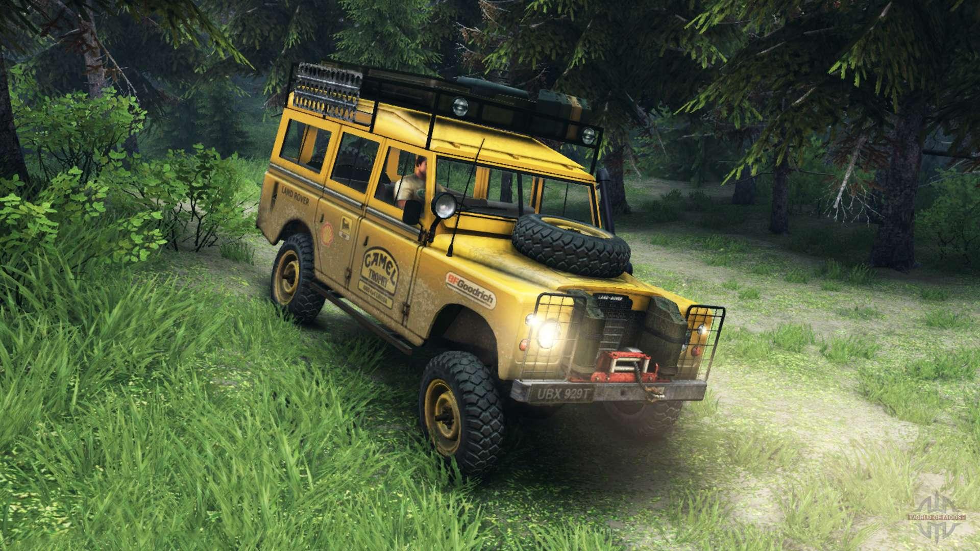 Land Rover Defender V2 2 Camel Trophy Siberia Pour Spin Tires