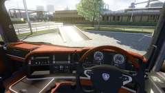 Innenraum für Scania-Holz-