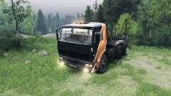 Schwarz und orange Farbe auf KAMAZ-6520