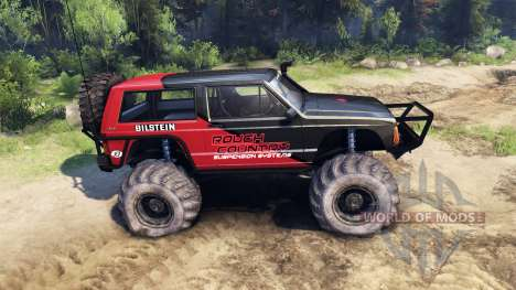 Jeep Cherokee XJ v1.3 Rough Country red clean für Spin Tires
