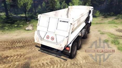 Mercedes-Benz Actros 4141 Tipper pour Spin Tires