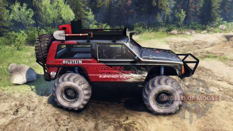 Jeep Cherokee XJ v1.3 Rough Country red dirty pour Spin Tires