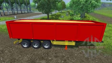 La semi-remorque Schmitz de SKI 50 pour Farming Simulator 2013