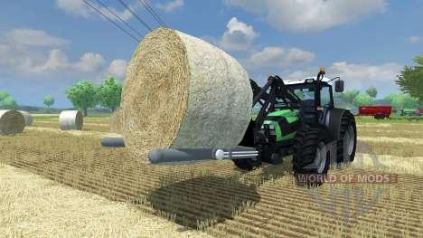 Fourches pour le chargement des balles rondes pour Farming Simulator 2013