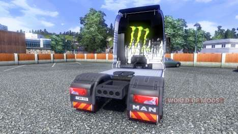 Couleur-Monster Energy - camion MAN pour Euro Truck Simulator 2
