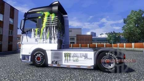 Farbe-Monster Energy - LKW MAN für Euro Truck Simulator 2