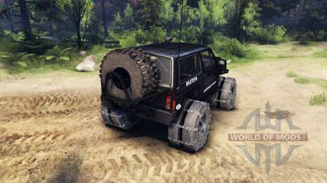 Jeep Cherokee XJ v1.3 Rough Country black für Spin Tires