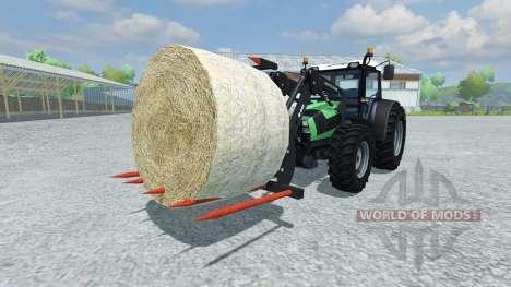 Fourches pour le chargement des balles pour Farming Simulator 2013