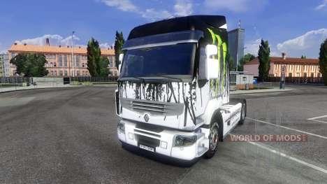 Couleur-Monster Energy - pour tracteur Renault P pour Euro Truck Simulator 2