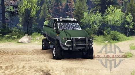 UAZ Patriot Abholung für Spin Tires