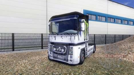Farbe-Monster Energy - auf einer Sattelzugmaschi für Euro Truck Simulator 2