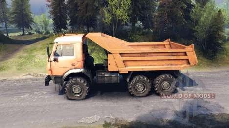 KamAZ-6520 vidage du camion 6x6 pour Spin Tires