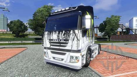 Couleur-Monster Energy - pour Iveco camion pour Euro Truck Simulator 2