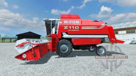 Bizon Z 110 red pour Farming Simulator 2013