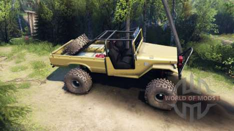 Toyota FJ40 Olive pour Spin Tires