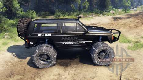 Jeep Cherokee XJ v1.3 Rough Country black pour Spin Tires