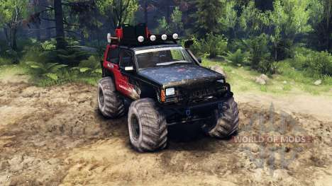 Jeep Cherokee XJ v1.3 Rough Country red dirty für Spin Tires