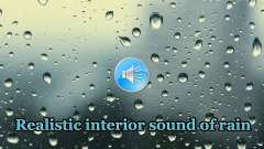 Realistische sound-Regen